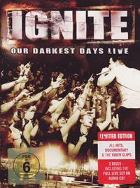 DVD + CD IGNITE Our Darkest Days Live (Limited Edition) sur ROOOAR (FR)